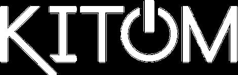 Kitom valkoinen logo